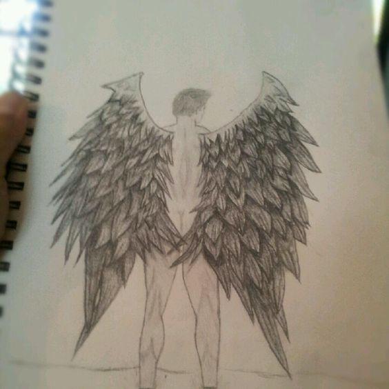 Fallen angel drawing. | Art | Pinterest | Angel drawing ...