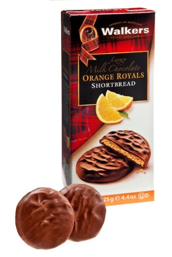 Walkers Shortbread Milk Chocolate Orange Royals   Walkers ...