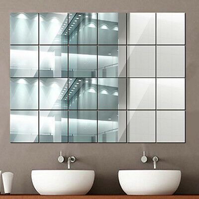 Mirror Wall Tiles Decor, What Adhesive To Use For Mirror Tiles
