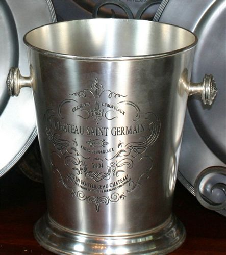 Old River Road Etched Antique Silver Champagne Bucket | WineGlasses-etc