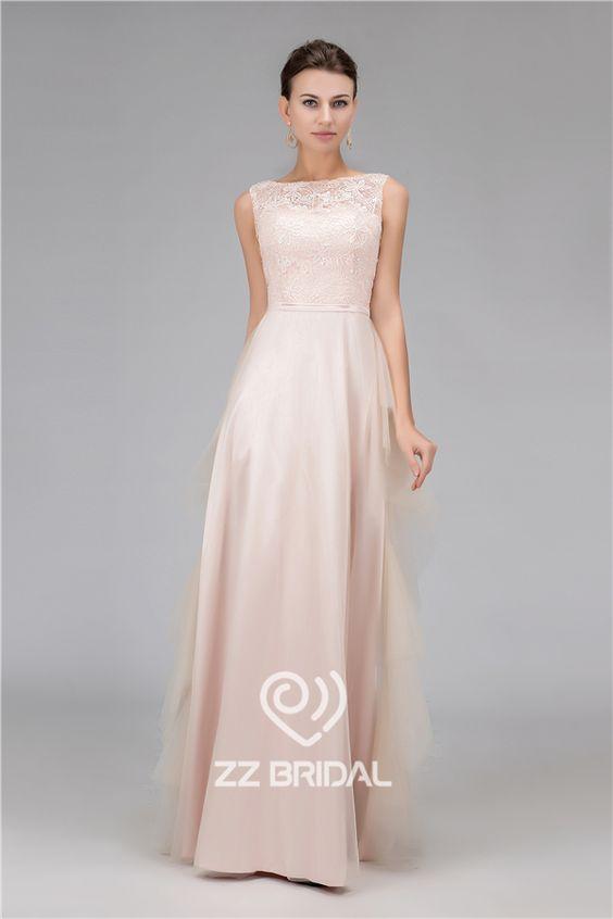 Scoop dekolt suknie wieczorowe, Suknie wieczorowe długie, beaded suknie wieczorowe
