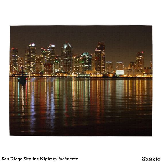 San Diego Skyline Night Puzzle