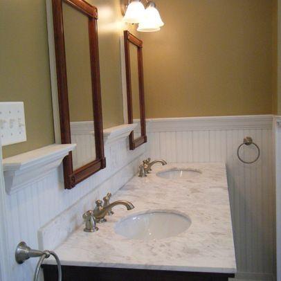 Beadboard Bathroom Design 9 109 Beadboard Backsplash Bathroom Design Photos Powder Bath