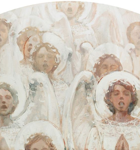 J. Kirk Richards — Angels Singing in White (736×785)