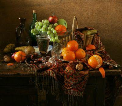 Imágenes Arte Pinturas: Bodegón con frutas en alta definición