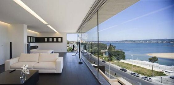 Modern Glass House Design in Cliff Side of Galicia Spain   Classy    Modern Glass House Design in Cliff Side of Galicia Spain