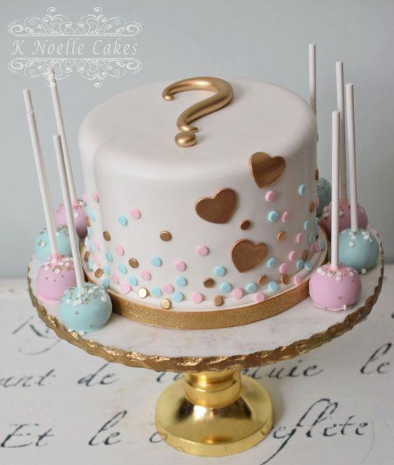 Geliefde Gender reveal ideeën; van pinata, taart of cupcake, ballon #ST73