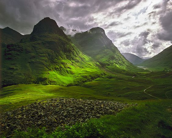 Glencoe - the first time I remember driving through Glencoe was in early evening in a thunderstorm. There is a change of atmosphere as soon as you enter the glen. A fabulously beautiful and dramatic place.