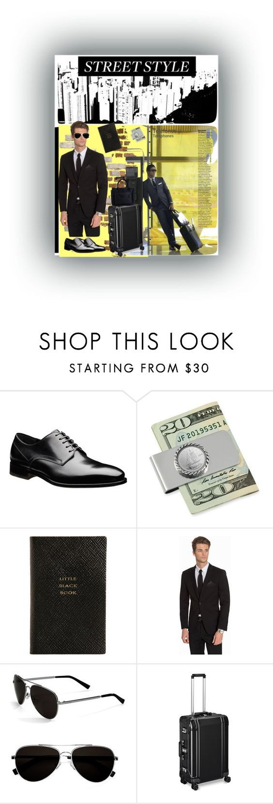"""""""Mens Street Style"""" by sheri-gifford-pauline ❤ liked on Polyvore featuring American Coin Treasures, Smythson, Difficult By P., Calvin Klein, ZERO Halliburton, mens, men, men's wear, mens wear and male"""