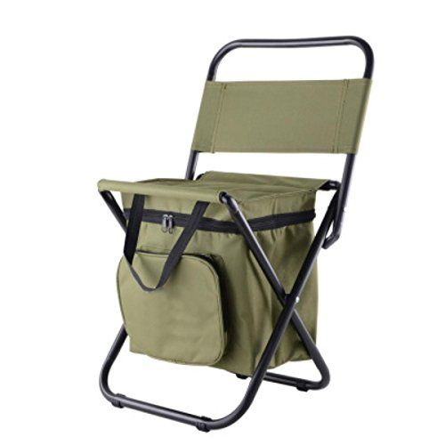 Juiang Outdoor Folding Storage Bags Chairs Portable Chairs Fishing Self Drive Tour Multi Function Insulation Fishing Chair Folding Chair Outdoor Folding Chairs