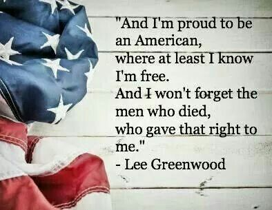 Proud to be an a american: