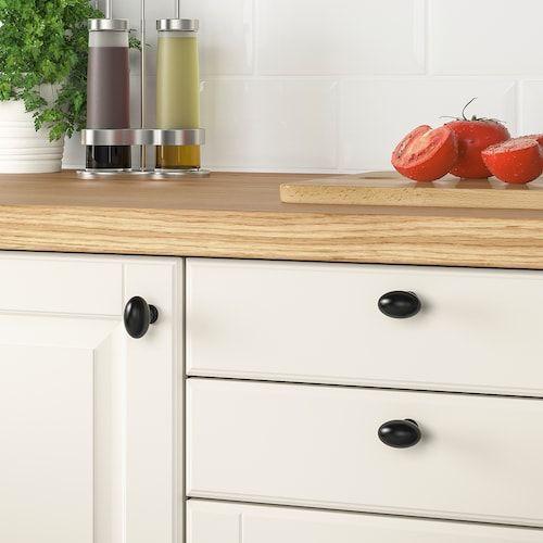 Eneryda Bouton Noir 35 Mm Ikea Styles Traditionnels Et Poignee Armoire