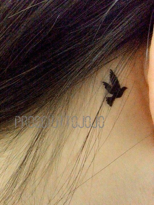 Little swallows birds InknArt Temporary Tattoo by prosciuttojojo