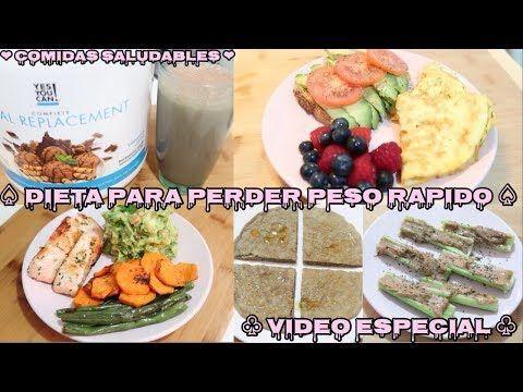 Videos dietas para bajar de peso rapido