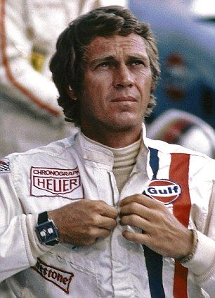 Steve McQueen wearing the TAG Heuer Monaco chronograph watch in the 1971 movie Le Mans