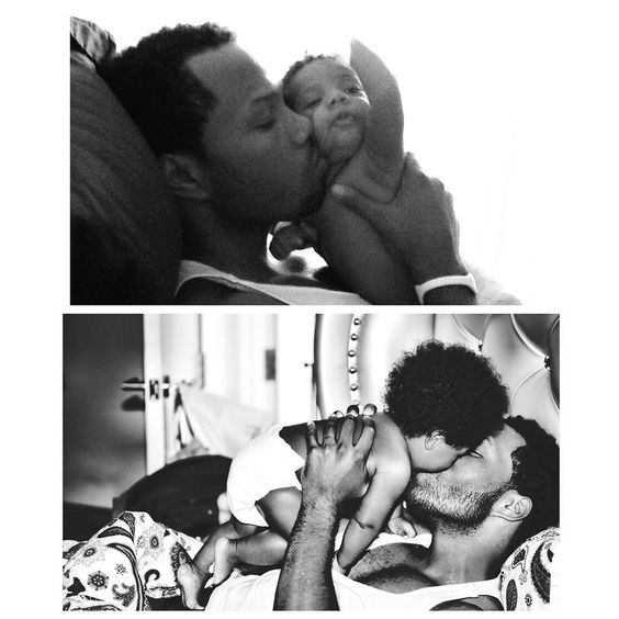 Dad and Omere 2012 Dad and Skylar 2015 @mendeecees look what I found babe...