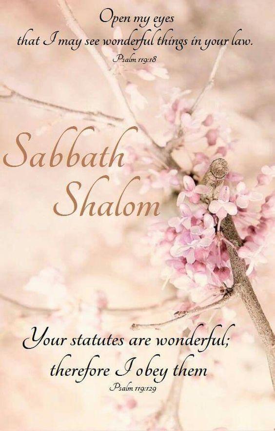 Sabbath shalom, Wonderous laws
