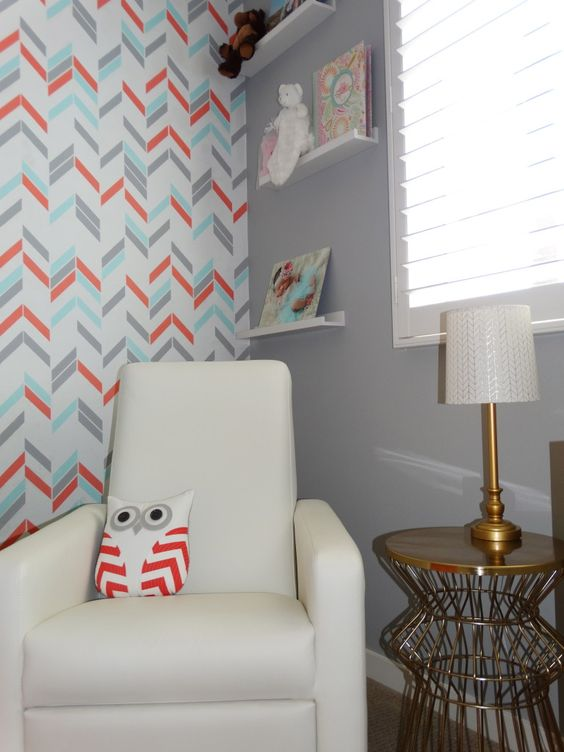 This gold lamp and side table is from @Target. Obsessed! #nursery #love #targetstyle