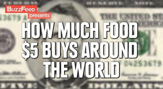 Can you believe what you canbuy for $5 in these countries around the world?
