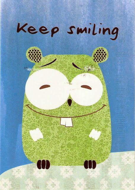 """""""Keep smiling"""". Mermaid's Postcards"""