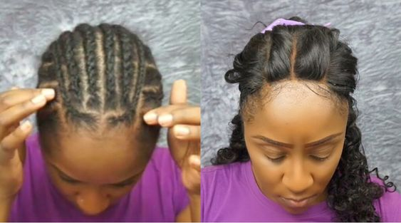 Best braid pattern to install 3-part lace closure!! Check out how to sew in this closure here: https://youtu.be/bz_kJHkQhCI