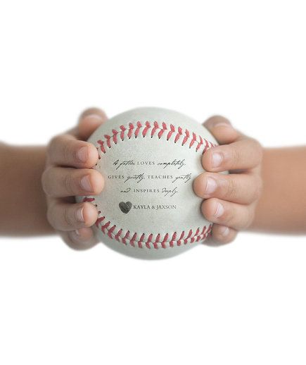 Those Saturday afternoon T-ball games will feel a lot more special with this personalized baseball in play. Add a name, quote, dad, or note to Dad to be printed directly on the ball. Don't forget to buy a stand—this is one gift he'll definitely want to display.