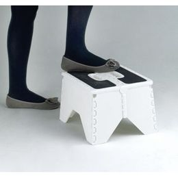Fold-flat step stool.