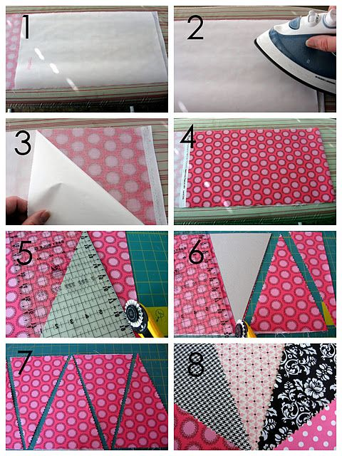 Great way to cut a banner Crafting Pinterest Buntings