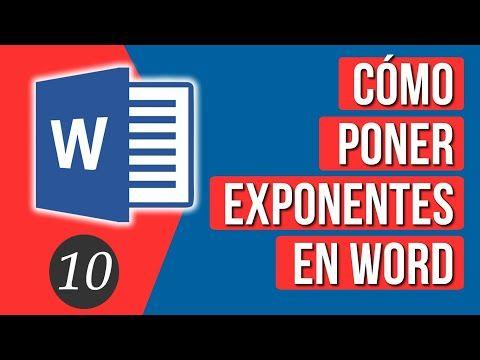 Como Poner Exponentes En Word Youtube En 2020 Informatica Y Computacion Mapa Conceptual Aprender Informatica