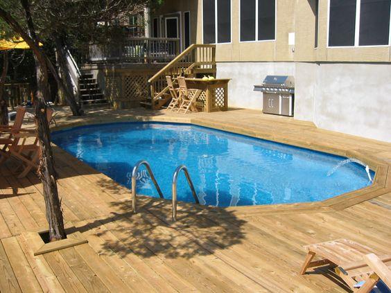 Decked Oval Above Ground Pool - San Antonio, TX   by abovegroundpoolcompany