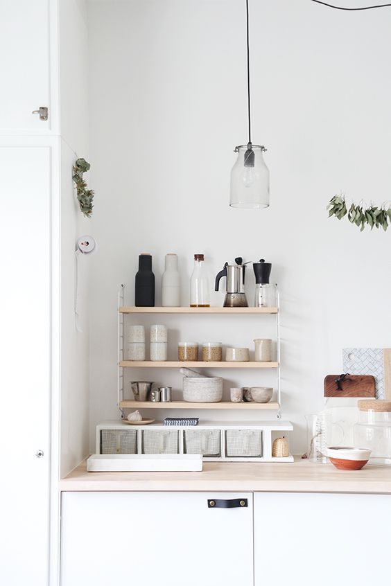 String Shelving | Kitchen Storage | Storage Solutions | Kitchen Inspiration | Click to BUY NOW design55online.co.uk or Pin for later!