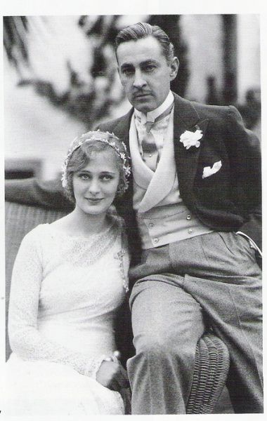 Dolores Costello and John Barrymore on their wedding day - November 24th, 1928: