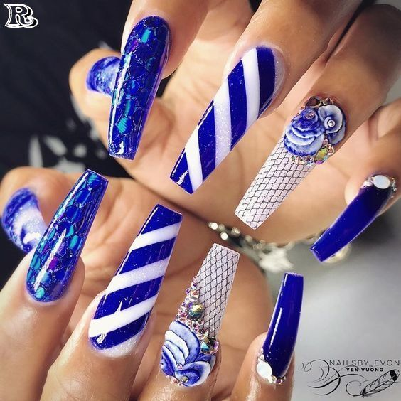 Nail Art Designs With Awesome Colors 2018 Nail Arts Accept Been Actuality Back A While And Is Absolutely A Ac Funky Nail Art Best Nail Art Designs Nail Designs