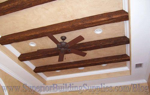 Beams Vault Crown Molding Ceiling Fan Recessed Lights