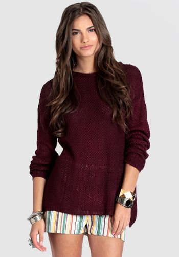Katherine Sweater by Brandy Melville     (obsessed with this color for fall)