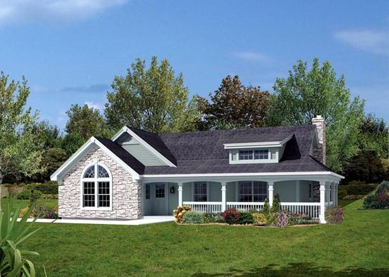 Bungalow Country Ranch House Plan 87806 House Plans Gas