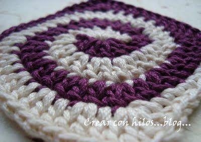 Free Crochet Pattern Spiral Granny Square : Crochet Spiral Square - Free pattern with charts crochet ...