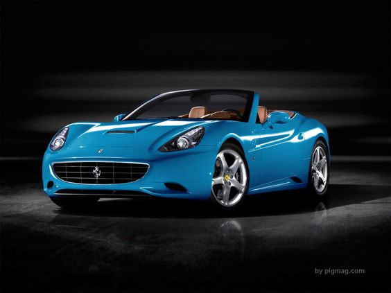 Blue Ferrari with suicide doors. Not on a teachers salary though right! lol