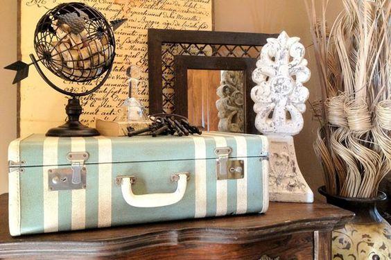 Ideas de decoración con maletas vintage