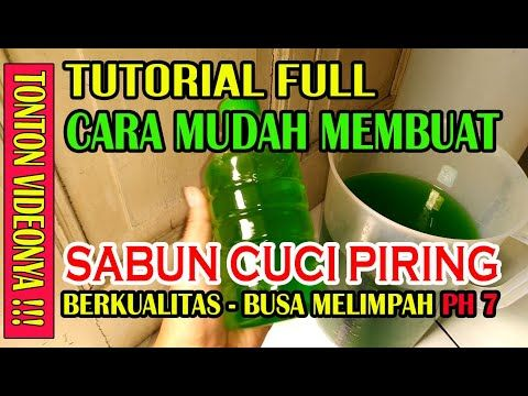 Cara Membuat Sabun Cuci Piring Cair 5 Liter Part How To Make Dish Soap Sb Pemula 2 Youtube Sabun Cuci Sabun Piring