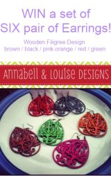 Win a set of 6 pair of earrings from #AnnabelleandLouise!