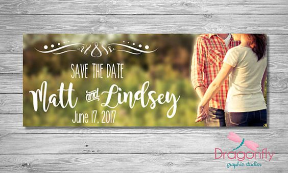 Save The Date Facebook Timeline Cover by DragonflyGraphic on Etsy