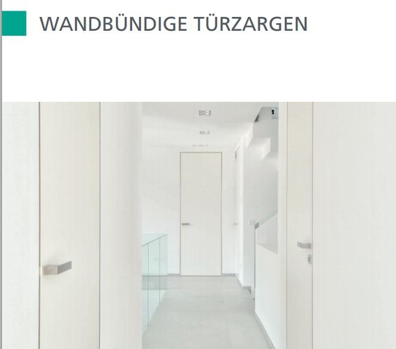Wandbündige Türzargen Türen Pinterest Türen, Zimmertüren und - tuersysteme kuechenoberschraenke platzsparend