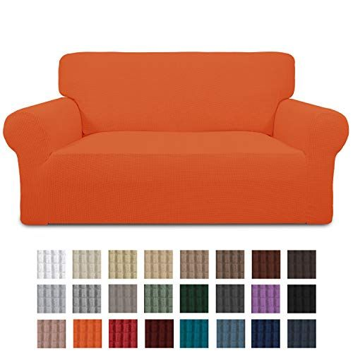 Easy Going Stretch Loveseat Slipcover 1 Piece Sofa Cover Furniture Protector Couch Soft With Elastic Bottom For Kids Polyester Spandex Jacquard Fabric Small Che In 2020 Loveseat Slipcovers Love Seat Furniture Protectors