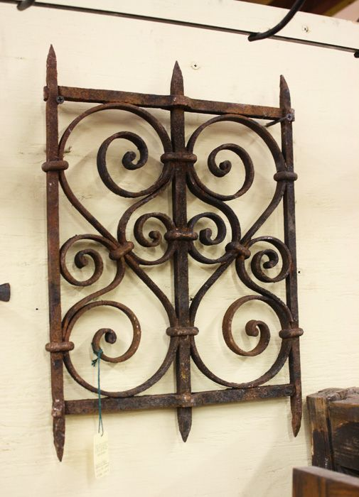 Beautiful antique wrought iron window grille tomaz