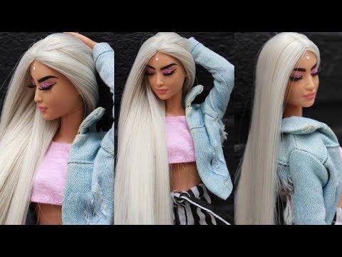 Stunning Barbie Makeover Hairstyles Transformations Diy Barbie Hair Tutorial Youtube In 2020 Barbie Hair Barbie Hairstyle Hairstyles For Gowns