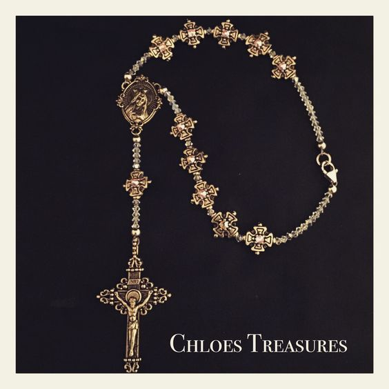 Swarovski Crystal Personalized Rosary.  To order email chloestreasures1@aol.com