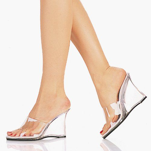 Amazon.com: 4 Inch Sexy High Heel Shoes Wedges Wedge Shoes High ...