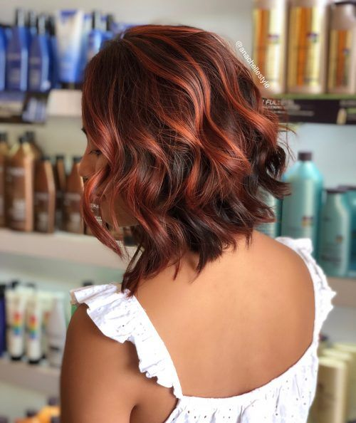 15 Hottest Brown Hair With Red Highlights Red Highlights In Brown Hair Short Ombre Hair Red Brown Hair
