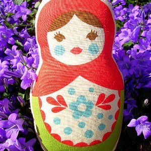 Russian Doll - hand printed in France